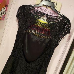 ABS Allen Schwartz Dresses - ABS black lace dress